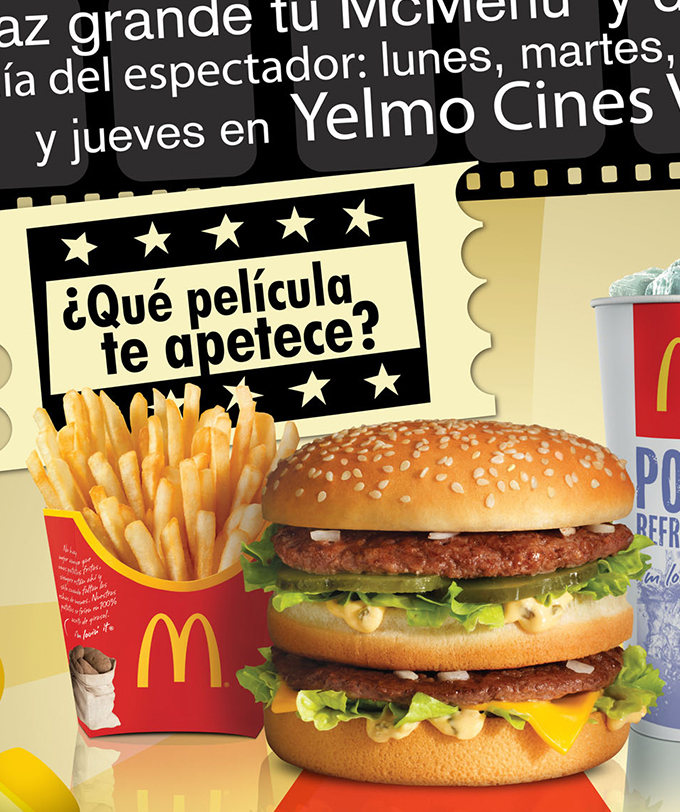 Let's go to the movies with McDonald's