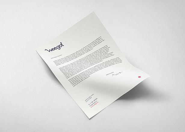 Diseño papelería hoja de carta Weegot Koolbrand