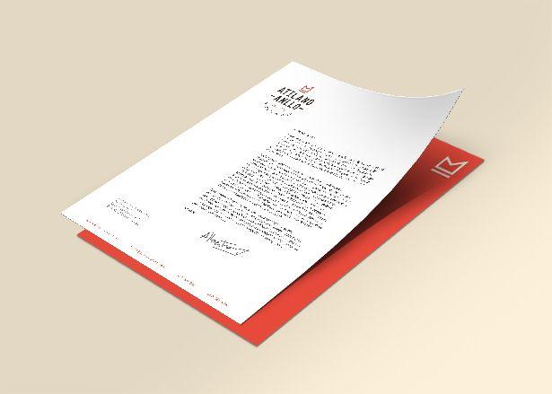 Branding Diseño papelería hoja de carta  A4 Jamones Atilano Anllo Koolbrand