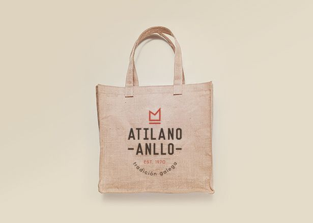 Diseño de merchandising diseño de bolsa Jamones Atilano Anllo Koolbrand