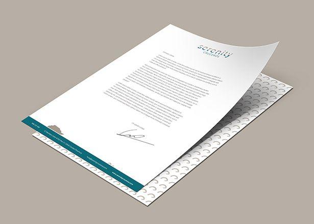 Diseño papelería y diseño logo A4 Serenity cruceros Koolbrand