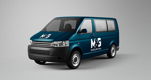 Diseño branding diseño logo diseño vinilos vehículo  M&G Facility Services Koolbrand