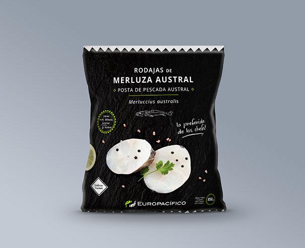 Diseño packaging, diseño de embalaje de congelado, alimentación - Europacífico - Línea Selecta - Koolbrand
