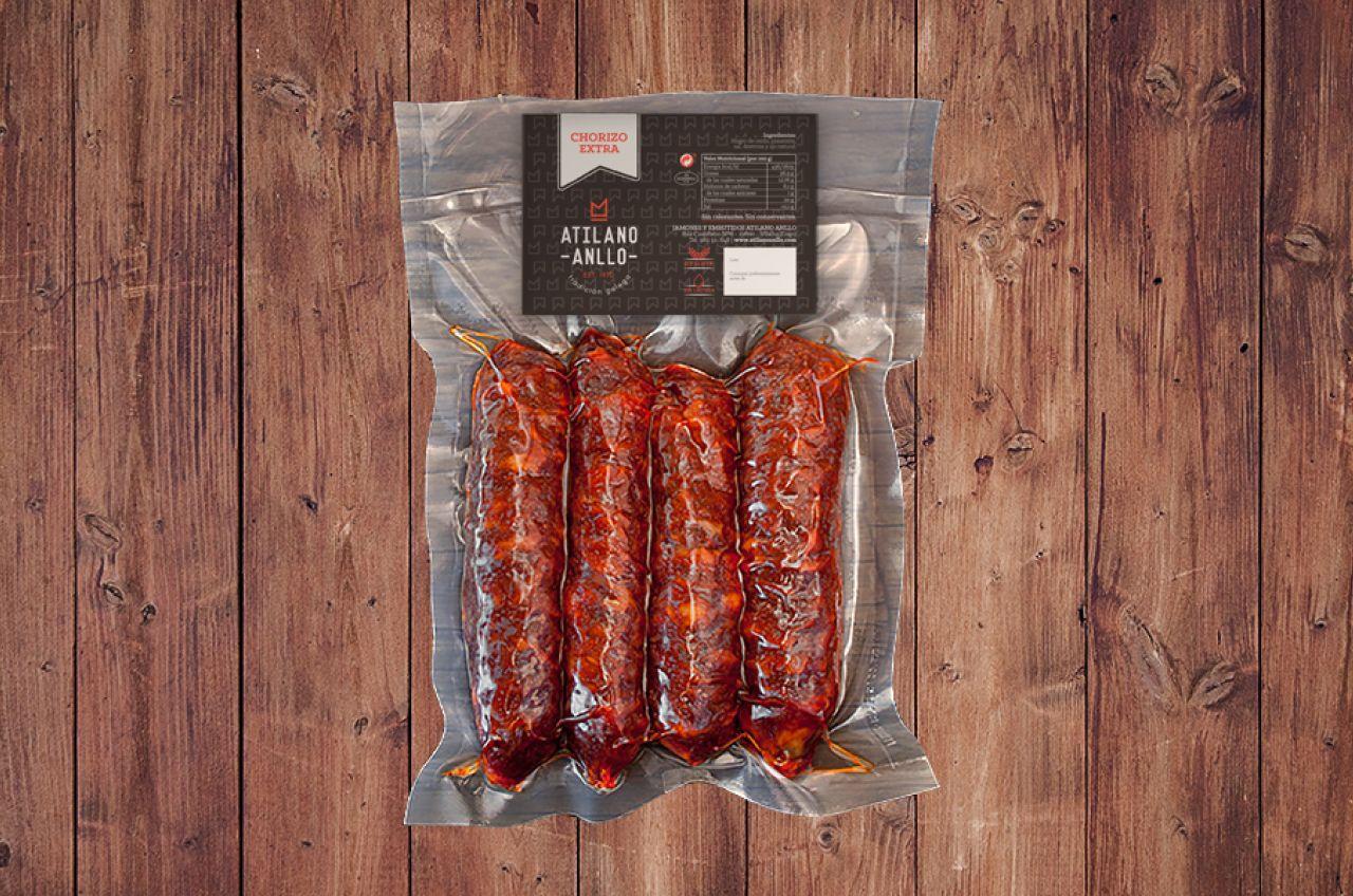 Diseño packaging diseño etiqueta embutido chorizo jamones Atilano Anllo Koolbrand