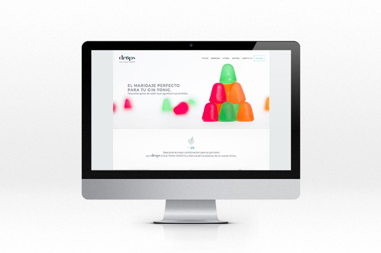 Diseño de página web Diseño tienda Ecommerce gintonic Drops gin & tonic Sweets Koolbrand