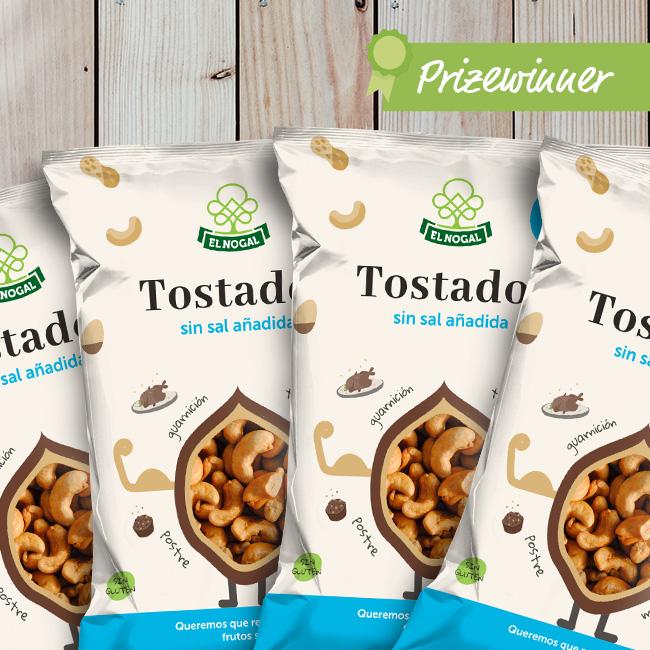 El Nogal: roasted nuts packaging