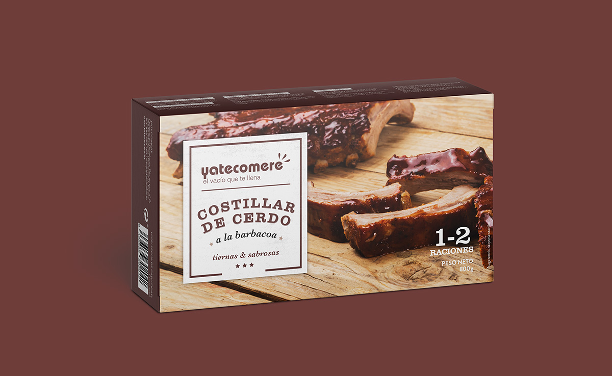 costillas de cerdo a la barbacoa packaging